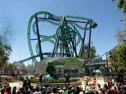 Goldrusher Six Flags Magic Mountain Green Lantern First Flight On Ride Pov At Six Flags Magic