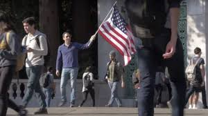 They Call Me Freedom Just Like A Waving Flag Filmmaker Waves American Flag On Berkeley Campus As Experiment