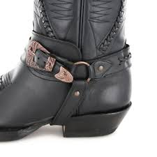 black biker style boots rancho boots 9064 black biker boot black fashion boots