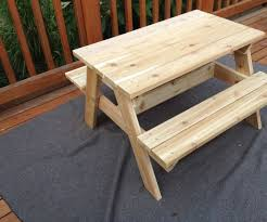 Plans Building Wooden Picnic Tables by Kids U0027 Picnic Table 8 Steps With Pictures