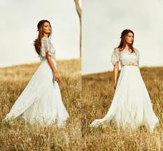 online get cheap two piece country wedding dress aliexpress com
