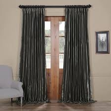 Raw Silk Drapery Panels by Faux Silk Blackout Curtains Half Price Drapes