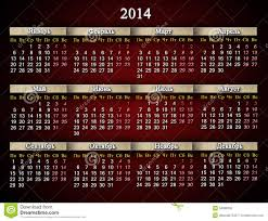 beautiful claret calendar for 2014 year in russian stock