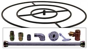 Gas Fire Pit Ring by Buy Spotix Round Natural Gas Fire Pit Burner Ring Kit 24 Inch In