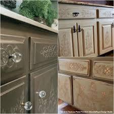 flat kitchen cabinet doors makeover 20 diy cabinet door makeovers with furniture stencils