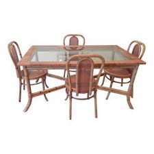 Rattan Kitchen Table by Vintage U0026 Used Rattan Dining Sets Chairish