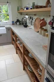 cuisine béton ciré plan de travail 35 exemples en béton ciré kitchens flat ideas