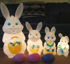 34 empire bunny rabbits eggs mold easter light up yard decor