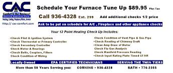 Comfort Corporation Corning Appliance Corporation Serving All Your Heating Cooling