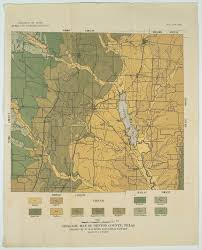 Unt Campus Map Geologic Map Of Denton County Texas The Portal To Texas History