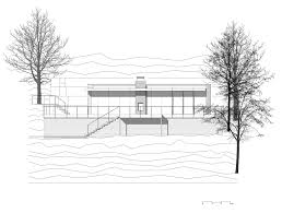 charming lake house in germany elevation sketch plan design
