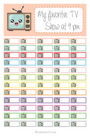 printable tv stickers tv show tracker printable stickersec planner set planner