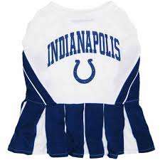 Colts Cheerleader Halloween Costume Indianapolis Colts Cheerleader Dog Dress Shipping