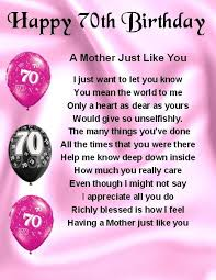 fridge magnet personalised mother poem 70th birthday free