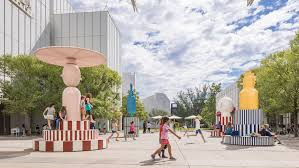 jaime hayon installs spinning merry go zoo totems at atlanta art