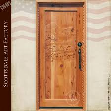 Carved Exterior Doors Door Carved Horses Custom Wood Exterior Doors