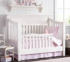 How To Convert Crib To Bed Larkin Toddler Bed Conversion Kit Pottery Barn
