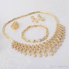 new fashion gold necklace images 2018 new arrival royal tassel gold jewelry set crystal tassel jpg