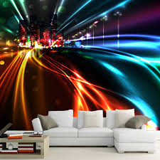 aliexpress com buy large abstract road city night wallpaper for