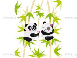 Jungle Wall Decals Panda Bear Kit Wall Decals For Kids Vdi1146en