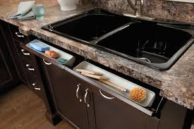 Space Saving Kitchen Sinks by Space Efficient Storage Tip Out Designs Core77