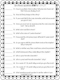 crafting connections worksheet wednesday fat u0026 skinny questions