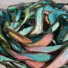 ribbons wholesale dyed silk ribbon qty 5 bracelet wraps summer sizzle