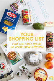 a shopping list for the first week in your new kitchen kitchn
