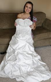 wedding dress with nebraska woman lends wedding dress to brides on a budget