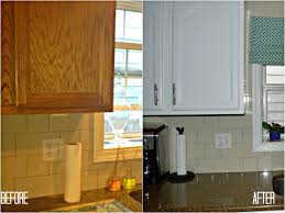 Painting Kitchen Cabinets Chalk Paint Dazzling Wooden And Painted Kitchen Cabinets Then S And