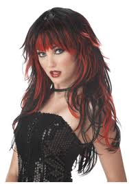 red and black gothic vampire wig womens vampire costume wigs