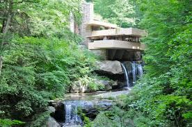 perky frank lloyd wright falling water house interior home