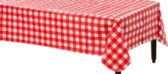 table covers for party american summer gingham vinyl table cover party city