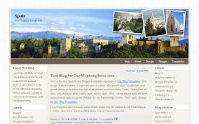 our blogger templates spain