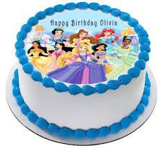 disney princess edible birthday cake and cupcake topper u2013 edible