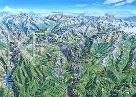 Yosemite Valley Map Yosemite National Park California James Niehues Map Artist