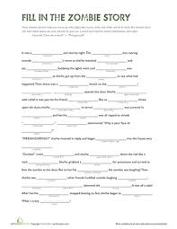 fill in the zombie story worksheet education com