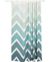 Green Chevron Shower Curtain Amazing Deal On Danica Studio Cotton Shower Curtain Chevron Print