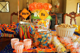 Construction Party Centerpieces by Custom Party Decor Construction Birthday Party Jhett 1 Year