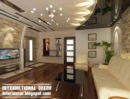 Ceiling Decoration False Ceiling Design And Tv Wall Design With Shelves In Living