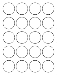 4 Per Sheet Label Template by 1 75 1 3 4 Inch Labels Ol914 1 75 Circle