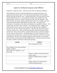 free cause and effect worksheets free worksheets library