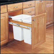 kitchen cabinet trash pull out rev a shelf 17 875 in h x 14 5 in w x 24 5 in d double pull out