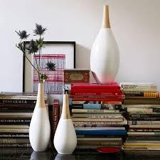 White Ceramic Floor Vase White Ceramic Vase Wood Top West Elm