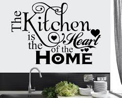 the kitchen is the heart of the home wall stickers stickers on the kitchen is the heart of the home wall art vinyl stickers transfers murals decals