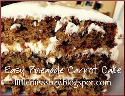 little miss suzy q easy moist pinapple carrot cake