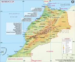 Algeria On Map Maps Of Morocco