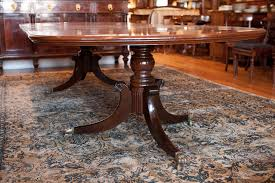 american federal revival double pedestal dining table in mahogany
