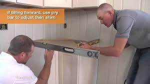 kitchen cabinets installation video american woodmark u0027s base cabinet installation youtube