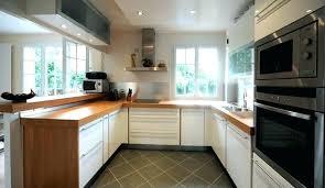 cuisine bois et blanc laqué cuisine blanche plan de travail bois crc bilalbudhani me